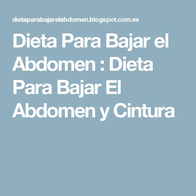 Cintura perder abdomen dieta para y