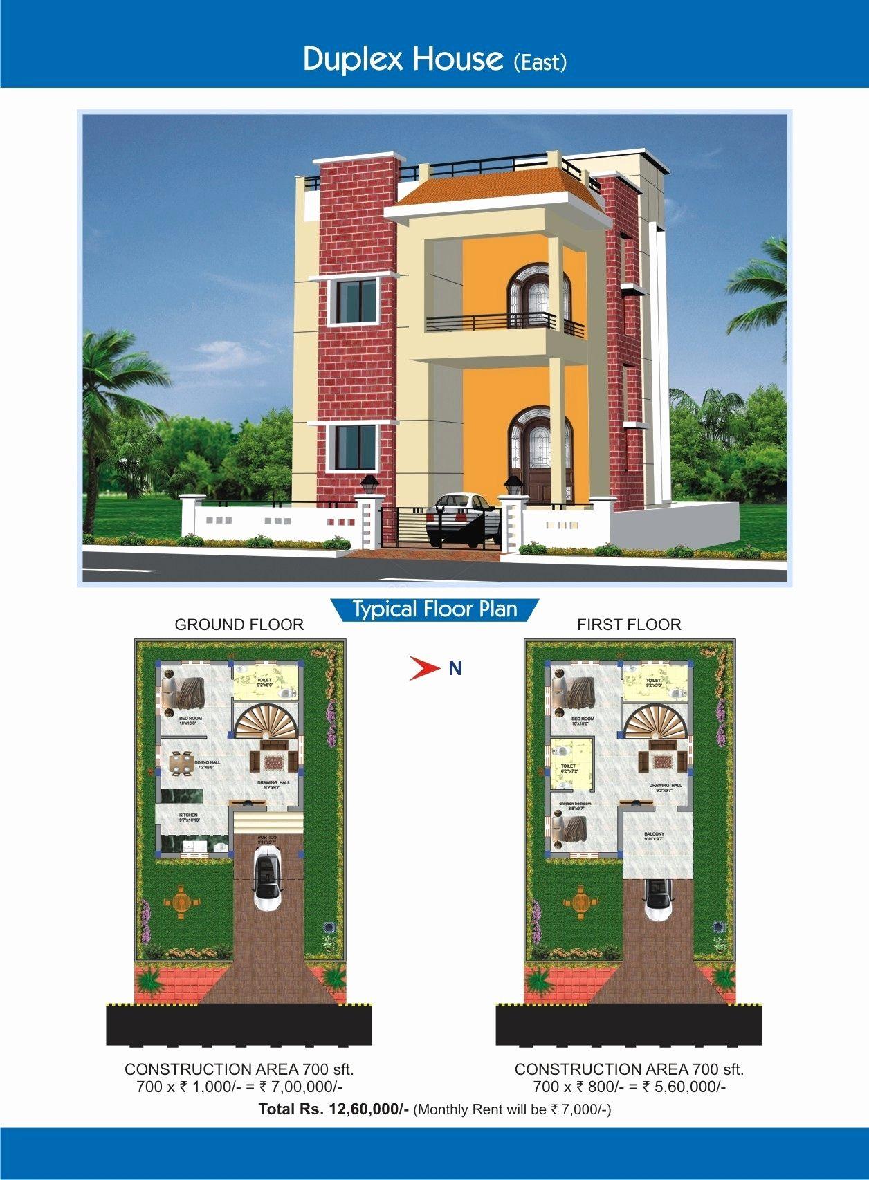 Remarkable 700 Sq Ft Duplex House Plans S Best Idea Home From Duplex House Floor Plans Indian Style Image Duplex House Modern House Design Duplex House Plans