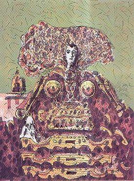 La Reina de los yugos, 1976 by Alberto Gironella. Surrealism. figurative