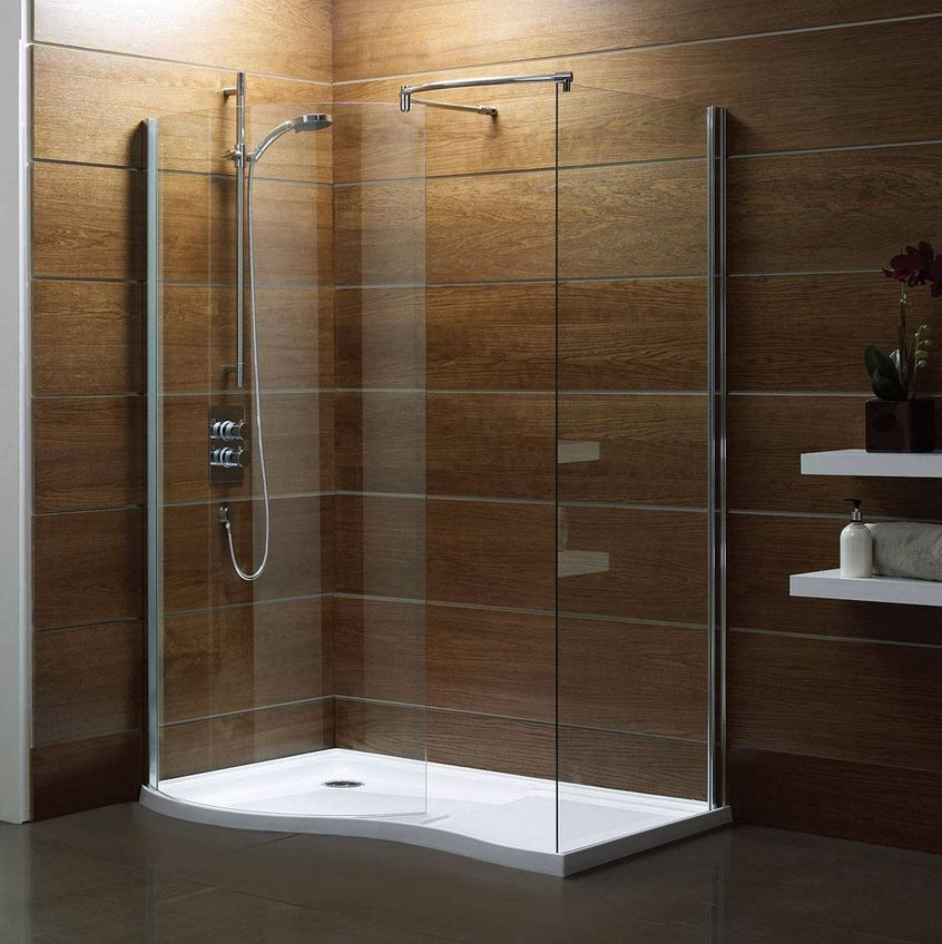 V6 Curved Walk In Shower Enclosure & Tray Pack 1400 x 900 LH - http ...