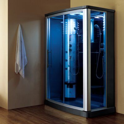 Mesa 54 X 85 Rectangle Sliding Steam Shower With Base Included Steam Shower Enclosure Steam Showers Shower Enclosure