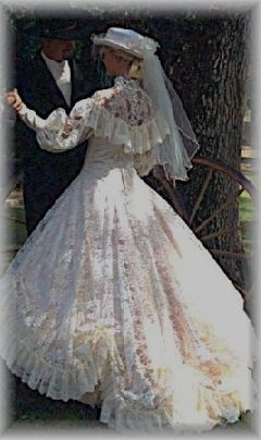 country western wedding dress\