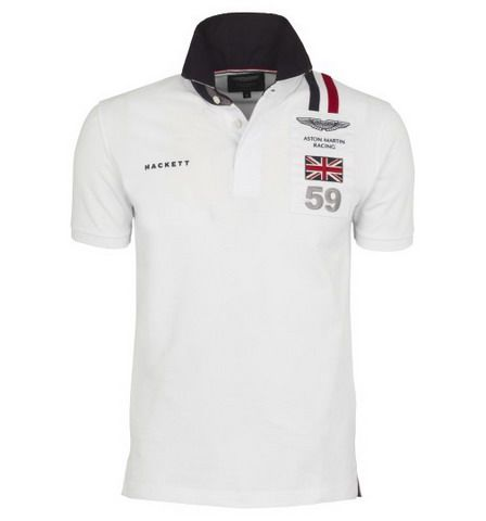ralph lauren outlet online Hackett London Aston Martin Racing Logo Rugby  Shirt White http:/