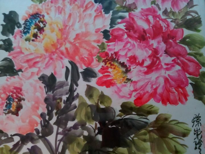 peony09272019-3 - sundongling watercolor  flower