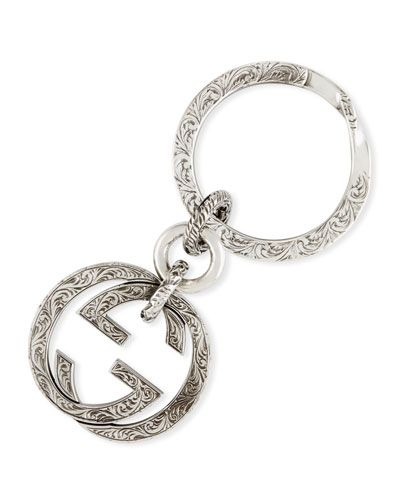 2774cf20e11b Interlocking G Sterling Silver Key Ring
