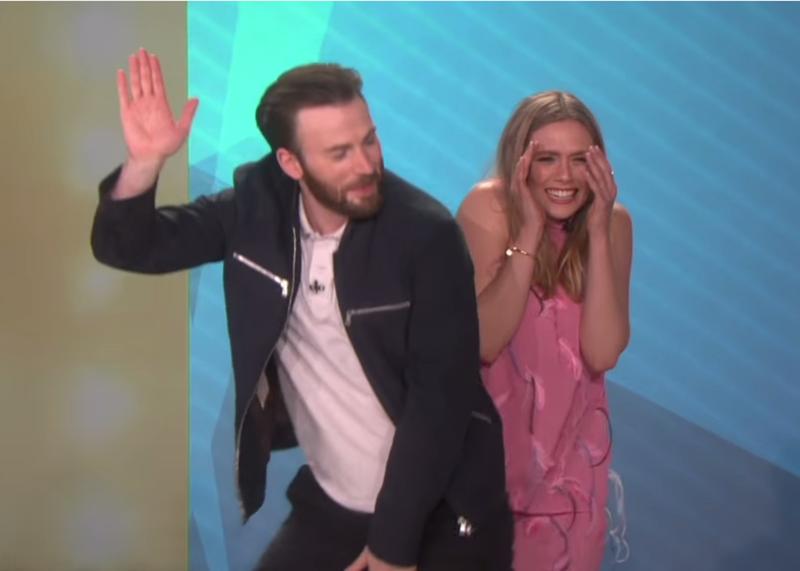 Chris Evans Elizabeth Olsen S Ellen Appearance Makes For The Best Episode Ever Videos Celebrities Funny Marvel Memes Chris Evans