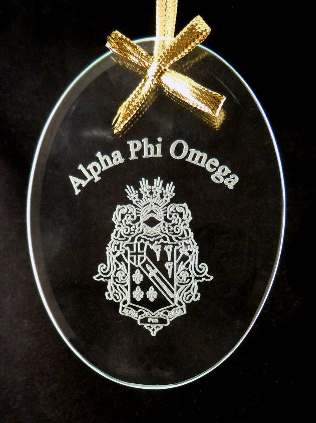 Your Sorority Crestsymbol Beveled Crystal Ornament New Alpha Phi
