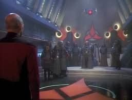 Capt Picard At The Great Hall Of The Klingon High Council Stng Star Trek Universe Klingon Greatful