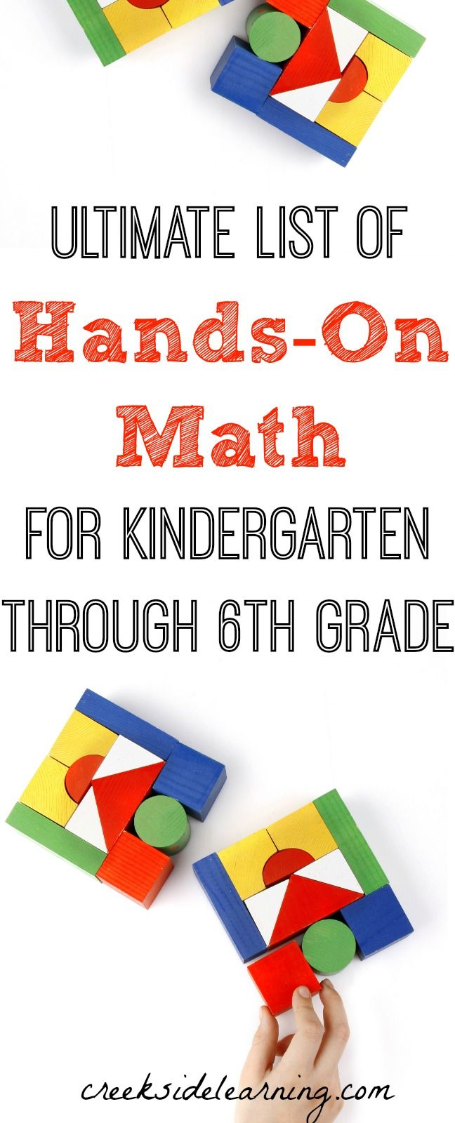 Ultimate List of Hands On Math for Kindergarten Through 6th Grade ...
