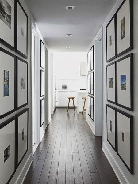 Most Homes Have Some Kind Of Hallway Whether It S A Long Narrow Passage To Bedrooms Or A Shor Narrow Hallway Decorating Hallway Designs Hallway Gallery Wall