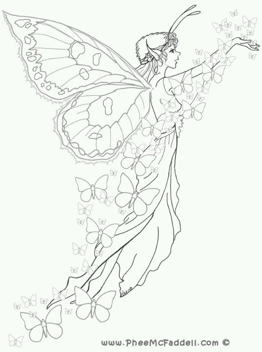 Phee McFaddell Artist very pretty free coloring page | Crafts - Oh ...
