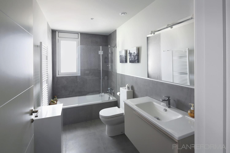 Ba o style moderno color blanco gris gris dise ado por for Banos blancos