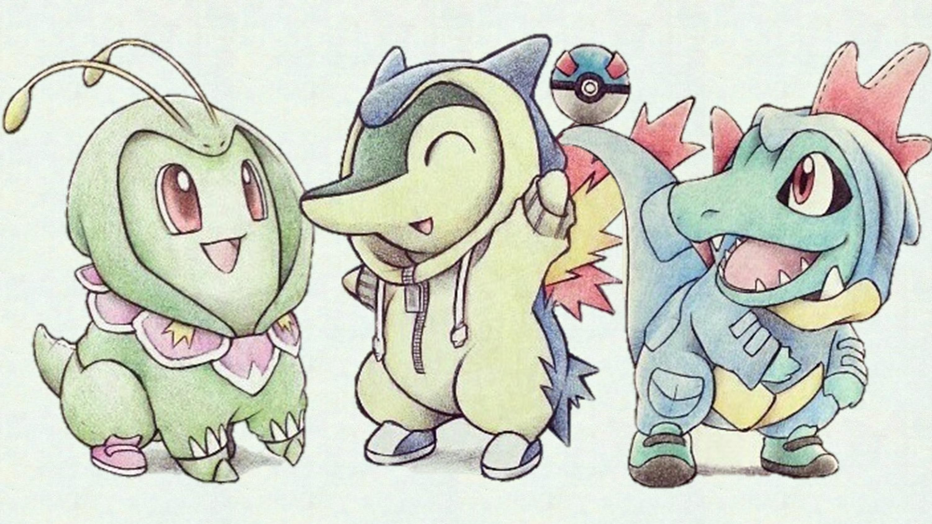 Johto Starter Hoodies Cute Pokemon Cute Pokemon Wallpaper Pokemon