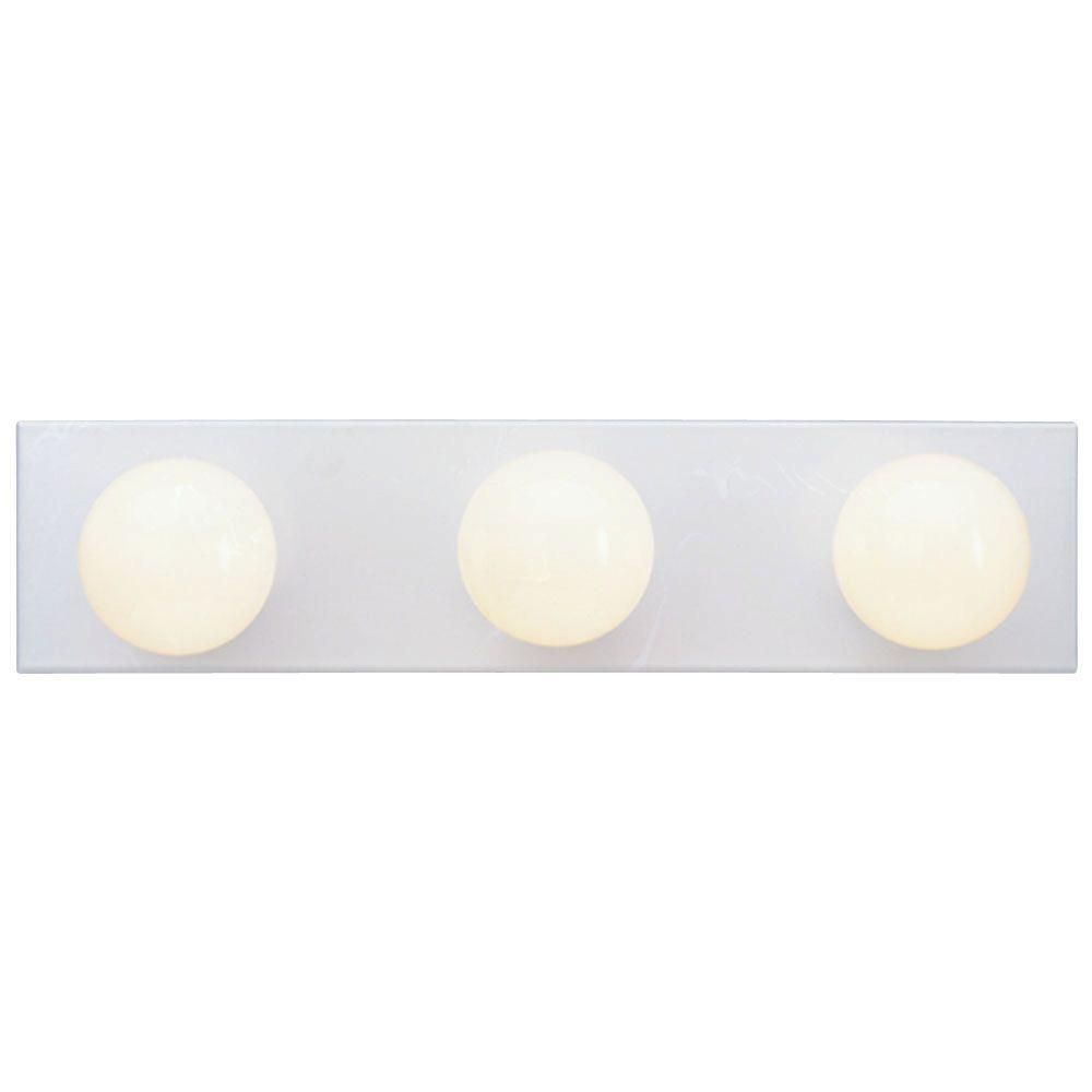Westinghouse 3 Light White Interior Bath Bar Light Bar Lighting