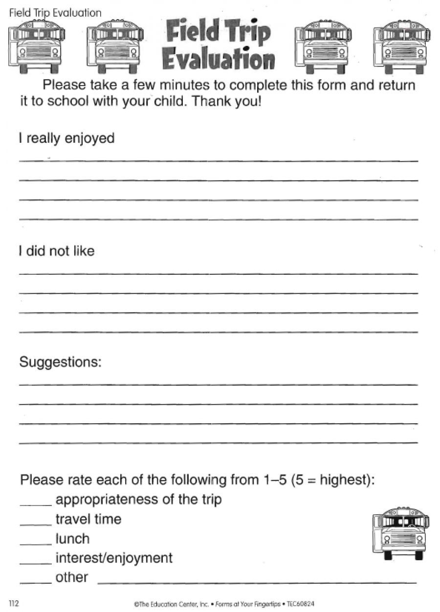 Museum Field Trip Evaluation Form  Google Search  Museum Classes