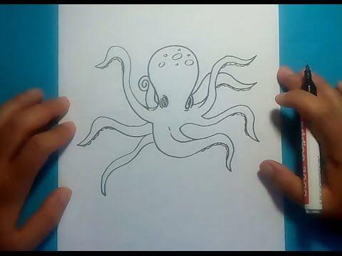 Como Dibujar Un Pulpo Paso A Paso 3 How To Draw A Octopus 3 Youtube Pulpos Dibujo Dibujo De Pulpo Tutorial De Dibujo