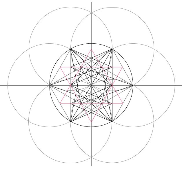 how to draw a hexagram