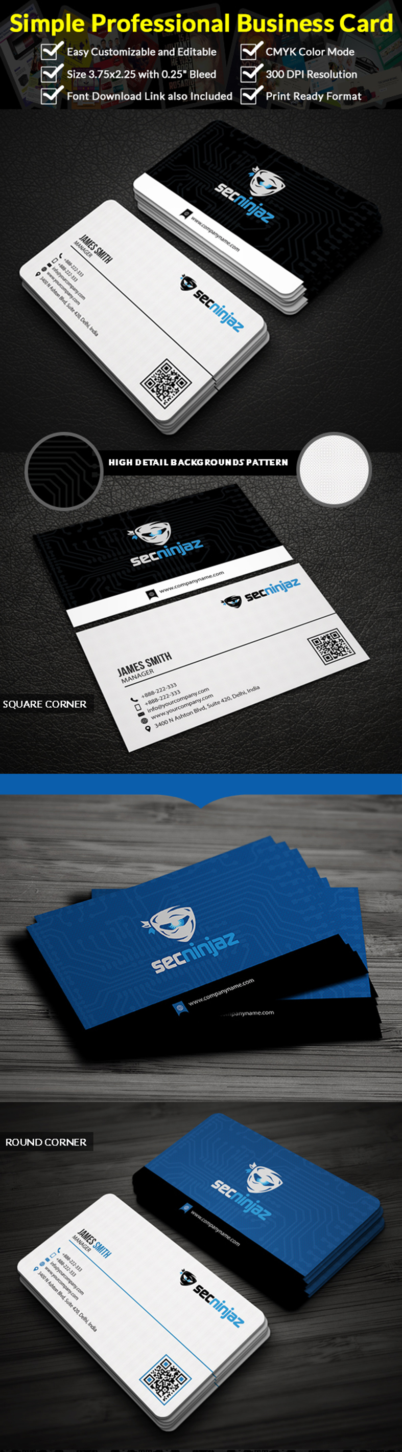 Professional business card business cards business and template professional business card reheart Gallery