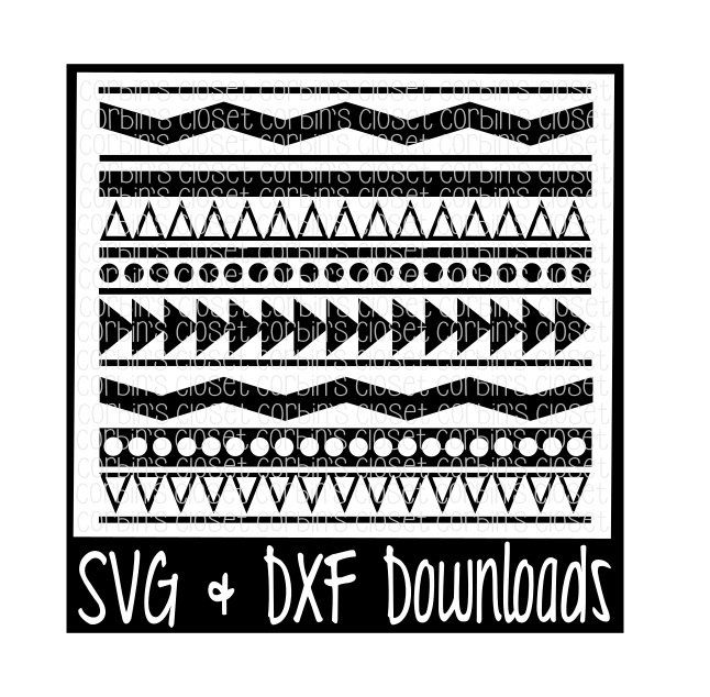 Aztec Pattern Tribal Cutting File SVG DXF Files Silhouette Cool Cricut Patterns