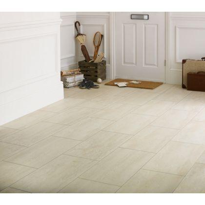 Ceramic Effect Beige Travertine Laminate Flooring 252 Sq M