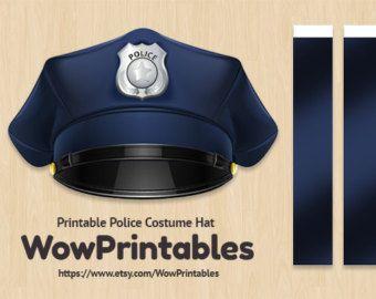 Digital Download Blue Police Hat Printable Ruan Party