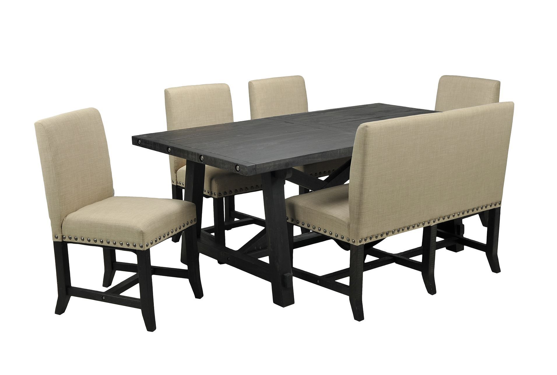 Jaxon 6 Piece Rectangle Dining Set W/Bench U0026 Uph Chairs. Dining SetsDining  TableSettee DiningDining RoomsUpholstered ChairsLiving ... Part 93
