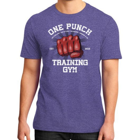 One Punch Gym District T-Shirt (on man)