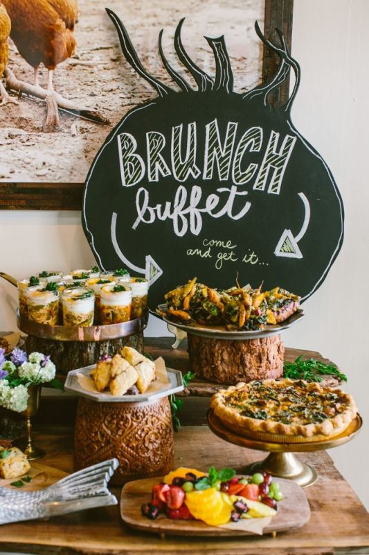 Peachy Brunch Buffet In The Salon Heirloomla Breakfast Buffet Interior Design Ideas Helimdqseriescom