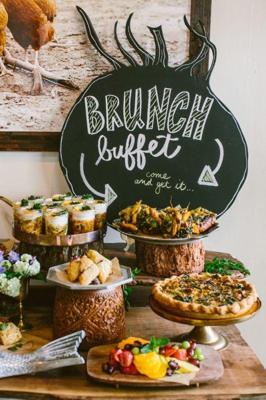 free brunch buffet in the salon heirloomla breakfast. Black Bedroom Furniture Sets. Home Design Ideas