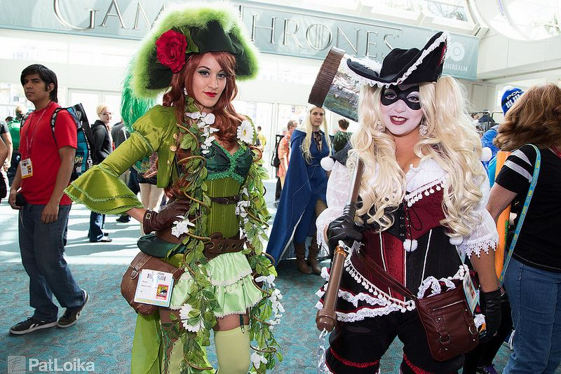Pirate Poison Ivy and Harley Quinn #SDCC2014 that is finally a new twist!