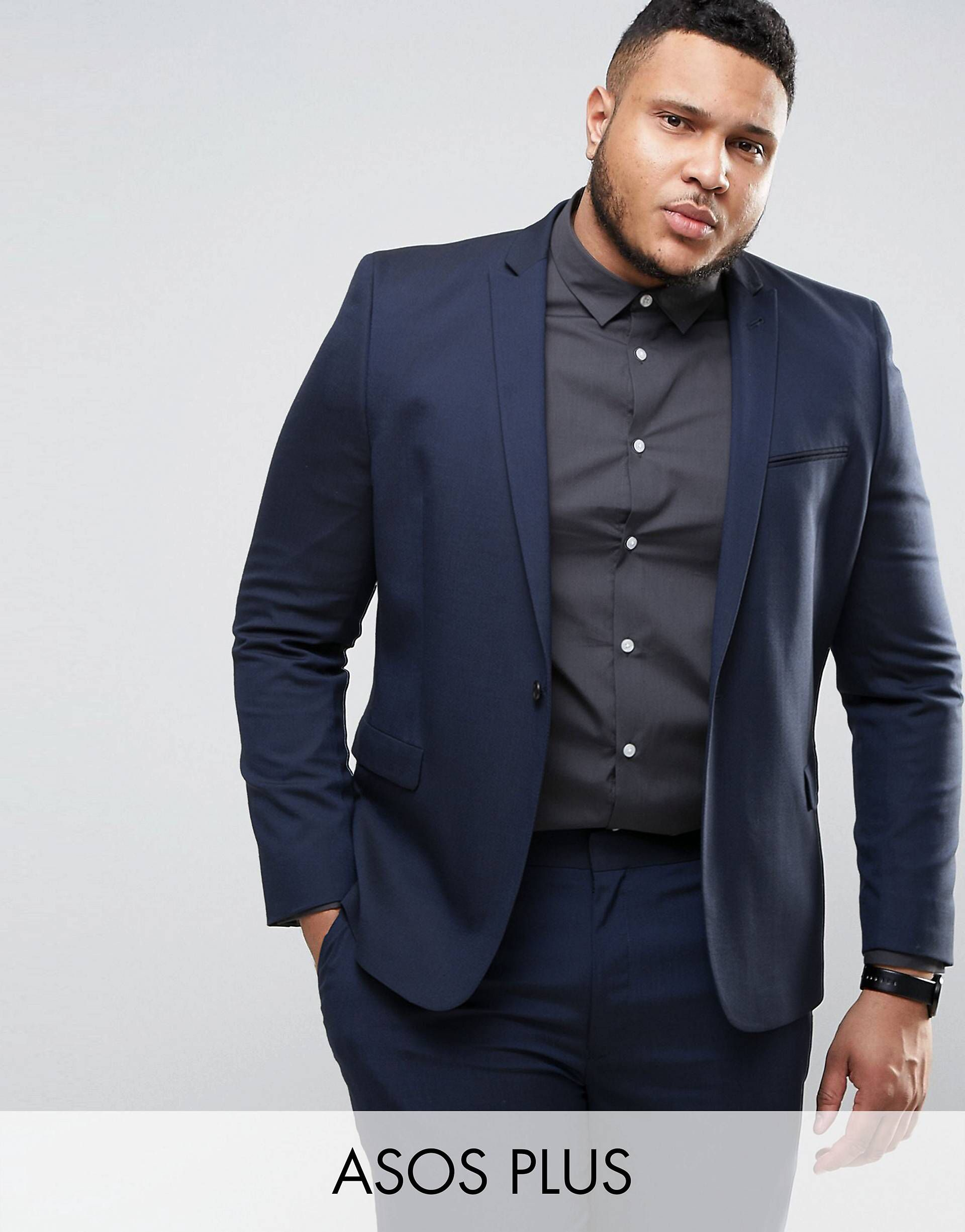 422ac340791c PLUS Skinny Suit Jacket In Navy in 2019 | Arrabal Violinist | Skinny ...