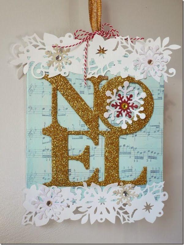 cafe creativo - sizzix big shot - Hanging Christmas decor - holiday ...