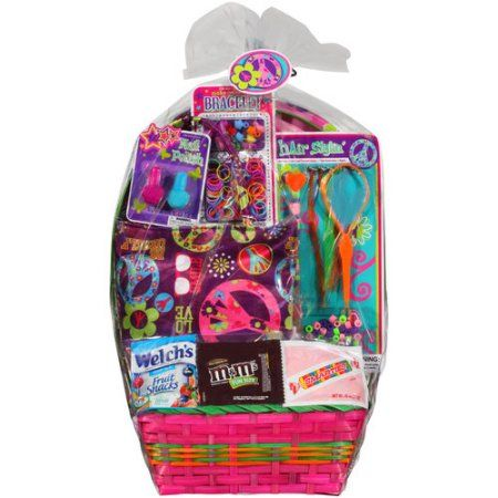 Girls Peace Theme Easter Basket