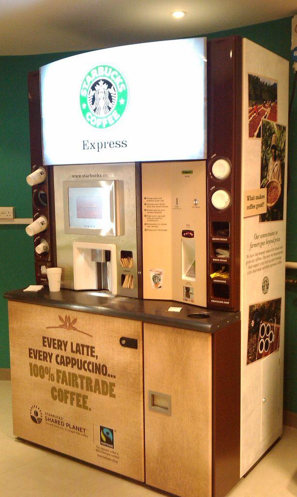 Starbucks Vending Vending Machine Design Vending