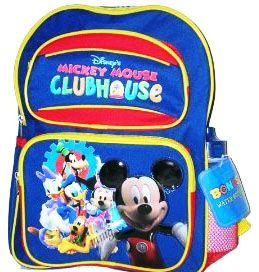 Visit http://www.abctoy4me.com/product_info.php/disney-mickey-mouse-clubhouse-large-backpack-p-1606    Mickey Mouse Clubhouse Backpack. Constructed of 600 denier polyester. The dimension are 16 inches x 12 inches x 6 inches.