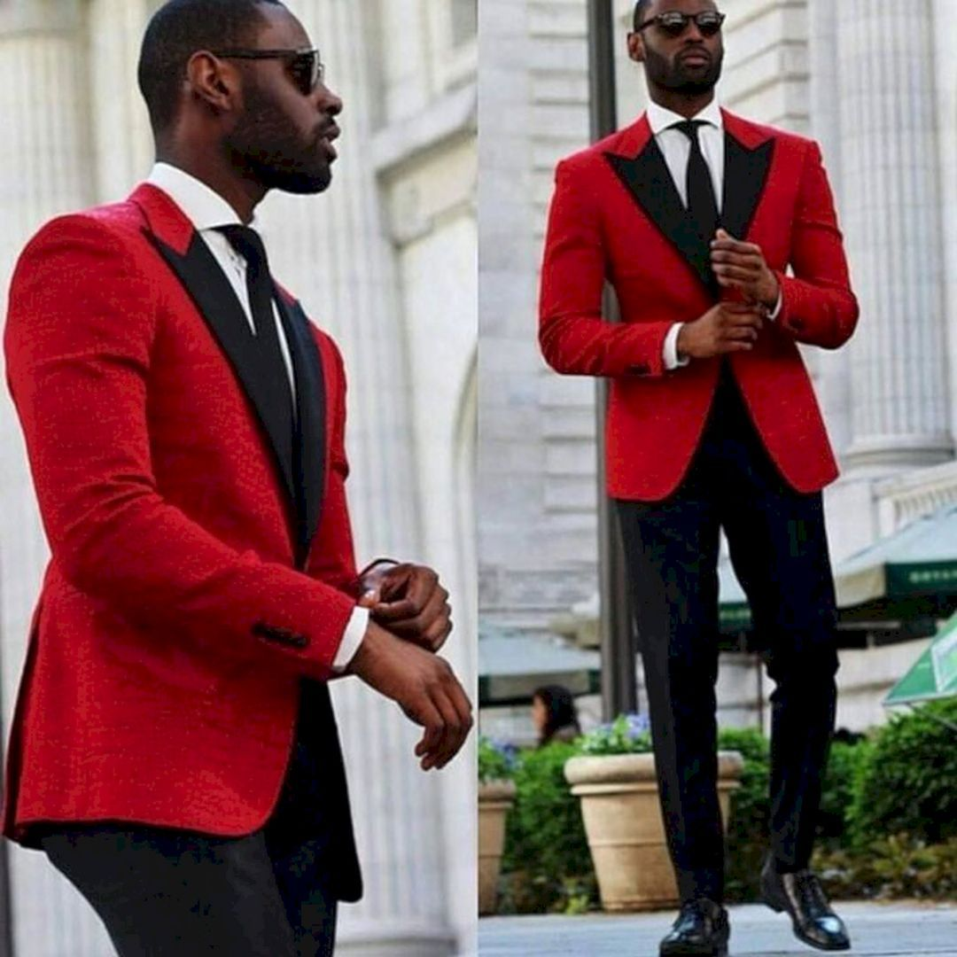 25 Marvelous Red Black And White Wedding Tuxedo Ideas Red Prom Suit Red Wedding Dresses Groomsmen Suits