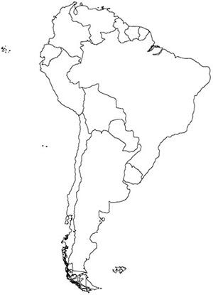 South America Map, Detailed Map of South America