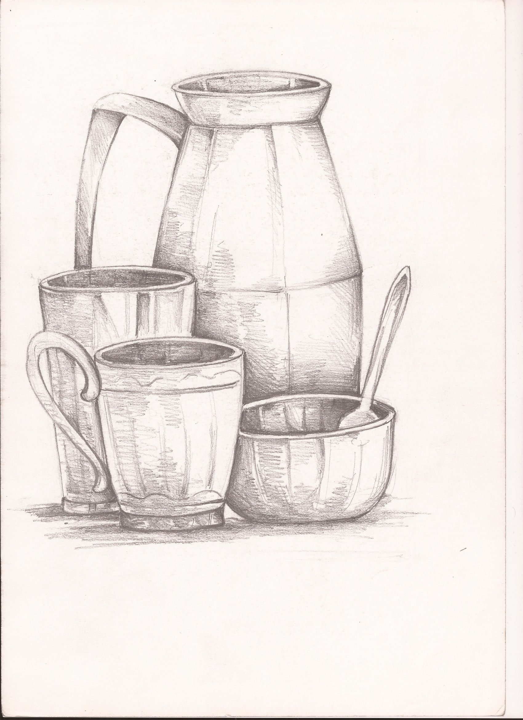 Still Life Sketching With Pencil For Sale If Interested