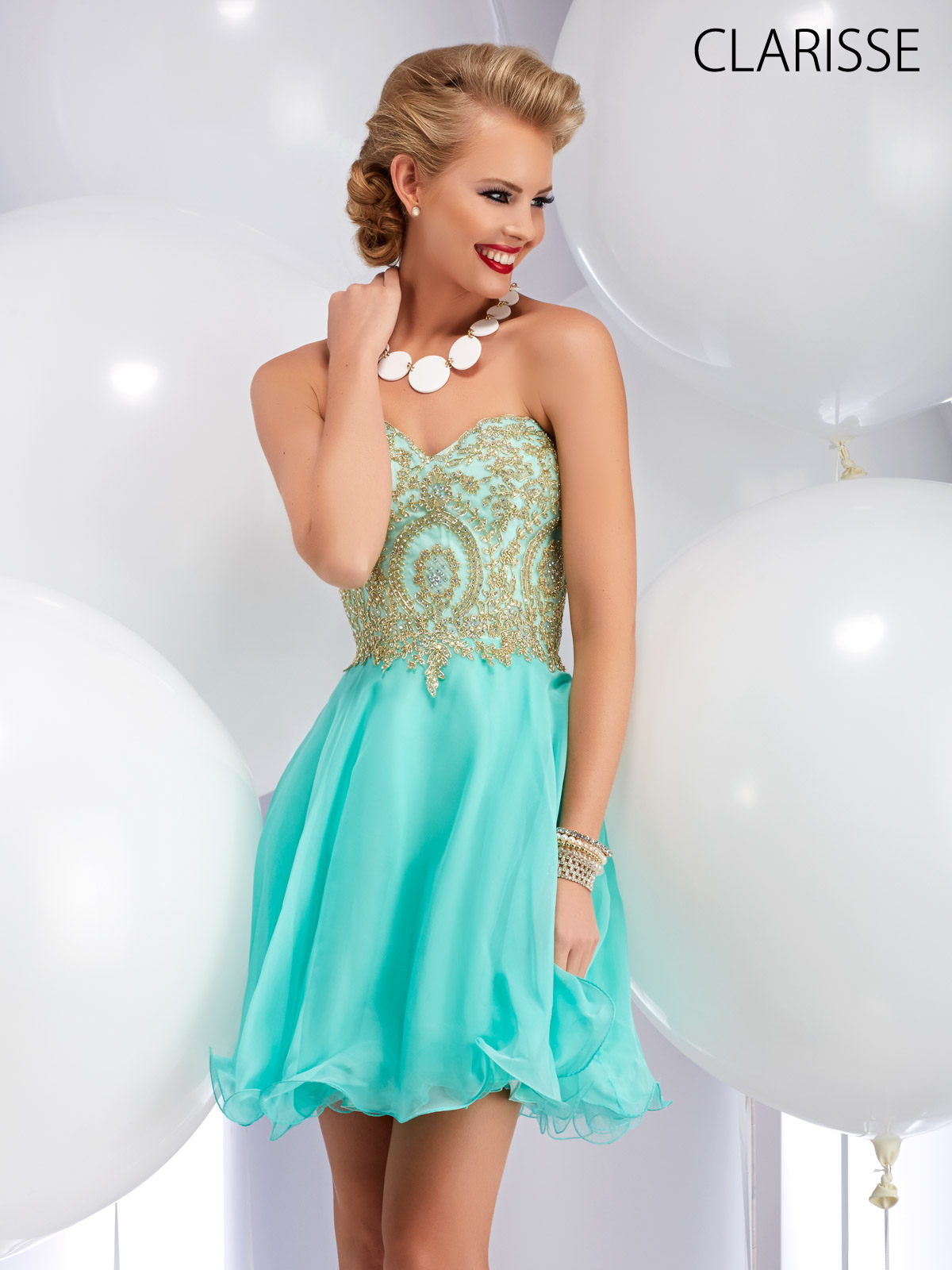 Clarisse Short, Mint, Fun and Flirty Beaded 2016 Prom Dress Style ...