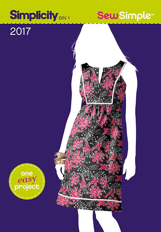 Simplicity creative group sew simple missesu dress sewing