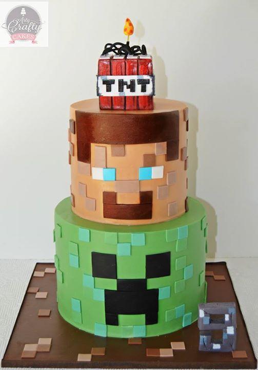Minecraft cake Pinteres