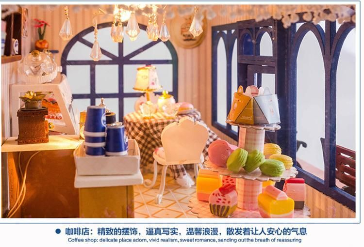 Diy Doll House With Furniture Miniature Handmade Wooden Dollhouse