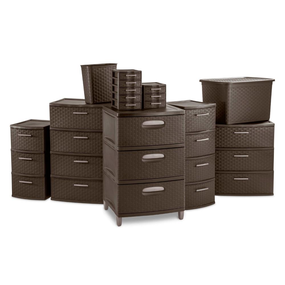 Sterilite 4 Drawer Wide Weave Tower Espresso Walmart Com Sterilite Drawer Unit Drawers