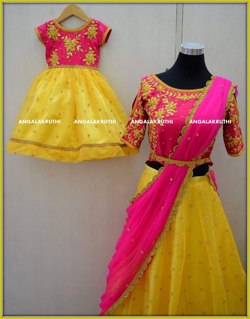 203df49407a1 Mom n Me matching dress designs by Angalakruthi boutique Bangalore  Mother  and daughter matching dress designs by Angalakruthi boutique Bangalore