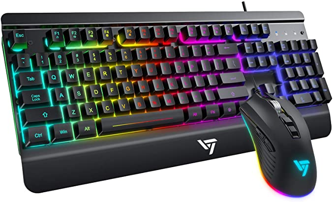 Amazon Com Victsing Wired Gaming Keyboard And Mouse Combo Led Rainbow Backlit Keyboard Quiet Metal Keyboard Gaming Mouse In 2021 Keyboard Xbox Pc Laptop Computers