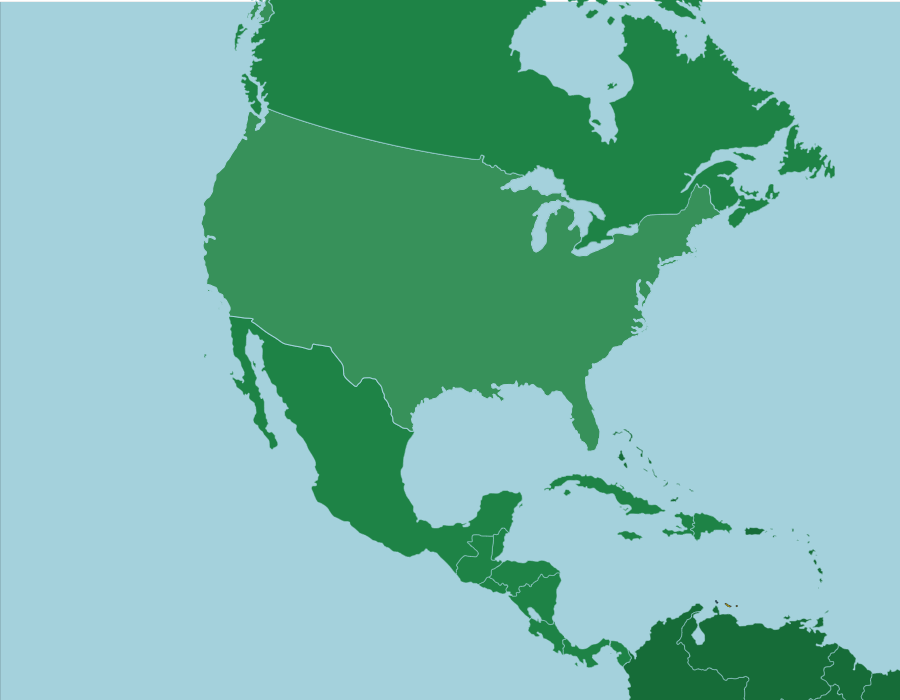 North and Central America: Countries - Map Quiz Game ...