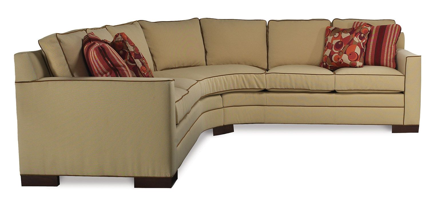 This eye catching American made sectional from Vanguard Furniture is