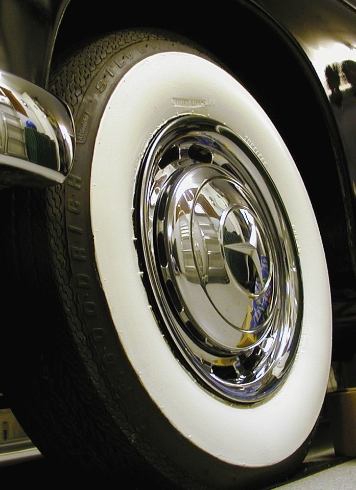 i have a huge thing for white wall tires in my opinion no classic car is complete without them