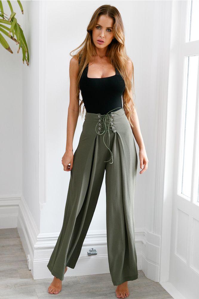 Roxy Pants Khaki