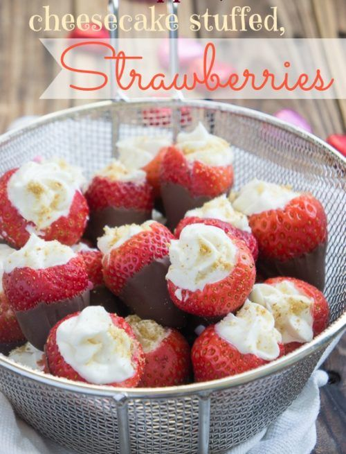 recipe: cheesecake stuffed strawberries pinterest [17]